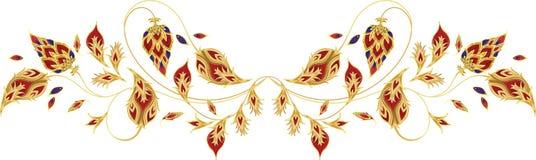 Elementi di vettore di Paisley per lo scialle di seta Immagini Stock Libere da Diritti