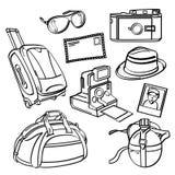 Elementi di viaggio di festa illustrazione di stock