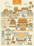 Elementi di viaggio di Hong Kong illustrazione di stock