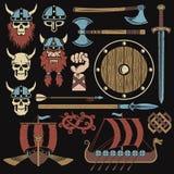 Elementi di Viking illustrazione vettoriale
