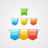 Elementi di web dei nastri Immagine Stock