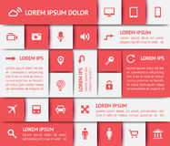 Elementi di web design Fotografie Stock