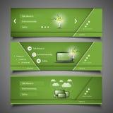 Elementi di web design - progettazioni dell'intestazione Fotografie Stock Libere da Diritti