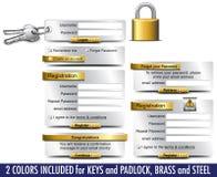 Elementi di Web di registro di parola d'accesso di collegamento royalty illustrazione gratis