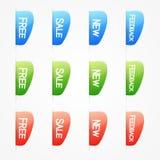 Elementi di web di vettore Fotografie Stock