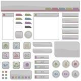 Elementi di Web nel grey Fotografie Stock