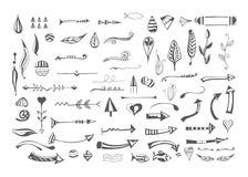 Elementi differenti disegnati a mano Immagini Stock