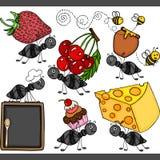 Elementi digitali stabiliti della formica sveglia Immagini Stock