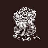 Elementi disegnati a mano d'annata di progettazione per la caffetteria, mercato, caffè Tipografia stampabile per la carta, manife illustrazione vettoriale