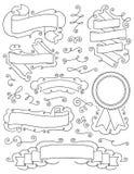 Elementi disegnati a mano d'annata nove di progettazione Fotografia Stock