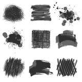 Elementi disegnati a mano di progettazione Fotografie Stock Libere da Diritti
