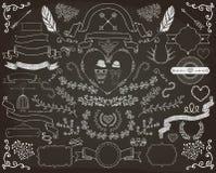 Elementi disegnati a mano di progettazione di scarabocchio Fotografia Stock Libera da Diritti