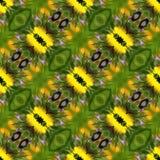 Elementi disegnati a mano geometrici di Gray Ikat Seamless Pattern Background Fotografia Stock