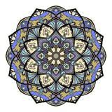 Elementi disegnati a mano multicolori di progettazione orientale floreale della mandala Fotografia Stock Libera da Diritti