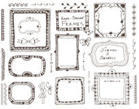 Elementi disegnati a mano per progettazione Immagine Stock Libera da Diritti