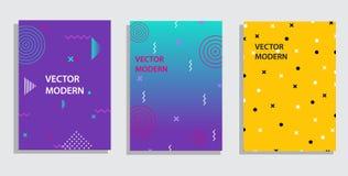 Elementi e forme geometrici del grafico di vettore per arte moderna Coperture per il cartello, manifesto, rivista, opuscolo royalty illustrazione gratis