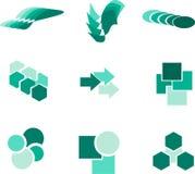 Elementi e logos di progettazione Fotografia Stock