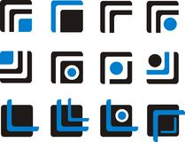 Elementi e logos di progettazione Fotografie Stock Libere da Diritti