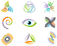 Elementi ed icone astratti di progettazione Fotografia Stock Libera da Diritti