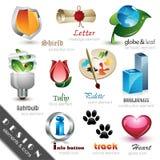 Elementi ed icone di disegno Fotografia Stock