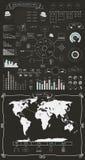 Elementi ed icone di Infographics Fotografie Stock Libere da Diritti