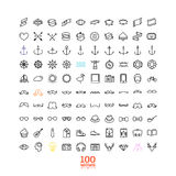 Elementi ed icone di infographics di stile dei pantaloni a vita bassa Fotografia Stock