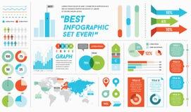Elementi ed oggetti di Infographics illustrazione vettoriale