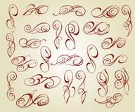 Elementi eleganti calligrafici di progettazione Vettore illustrazione vettoriale