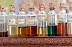 Elementi essenziali dell'aroma Immagini Stock