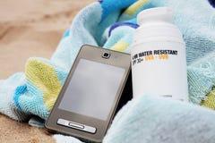 Elementi essenziali della spiaggia. immagini stock
