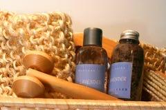 Elementi essenziali di massaggio Fotografia Stock Libera da Diritti