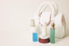 Elementi essenziali di Skincare Fotografia Stock
