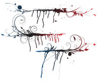 Elementi floreali del grunge royalty illustrazione gratis