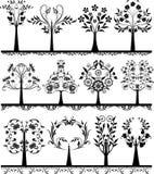 Elementi floreali di disegno astratto. royalty illustrazione gratis