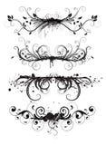 Elementi floreali di disegno di Grunge illustrazione di stock