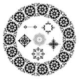 Elementi floreali neri - vettore Royalty Illustrazione gratis