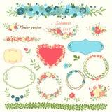 Elementi floreali per il disegno Fotografia Stock Libera da Diritti
