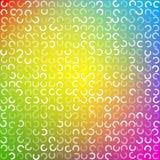 Elementi a forma di colorati retro beige Fotografie Stock Libere da Diritti