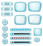 Elementi ghiacciati del fumetto per il gioco di Ui Fotografia Stock Libera da Diritti