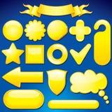 Elementi gialli di disegno Fotografia Stock
