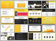 Elementi gialli e neri di vettore di riserva creativo per infographic Fotografie Stock Libere da Diritti