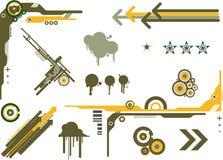 Elementi grafici Camo Fotografie Stock