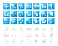 Elementi/icona di disegno Fotografia Stock Libera da Diritti