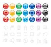 Elementi/icona di disegno Fotografia Stock