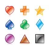 Elementi/icona di disegno Immagini Stock