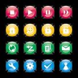 Elementi/icona di disegno Immagini Stock Libere da Diritti