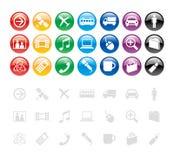 Elementi/icona di disegno Fotografie Stock