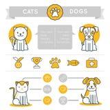 Elementi, icone e distintivi di progettazione di infographics di vettore Immagini Stock Libere da Diritti