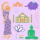 Elementi India della raccolta Immagine Stock