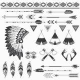 Elementi indiani rustici royalty illustrazione gratis
